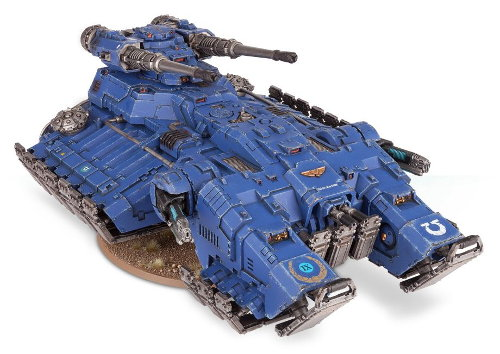 Hovering combat vehicle in 1/64 scale (Astraeus Super-heavy Tank build #1 for Warhammer 40.000 Ed8) from Forge World (Games Workshop), 2017 - Miniature vehicle review