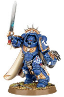 Futuristic warrior in power armour (Primaris Space Marine Captain from Dark Imperium set for Warhammer 40,000) from Games Workshop - Miniature figure review