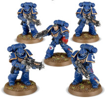 Primaris Space Marine Intercessors kit #2 for Warhammer 40,000 Ed8 from Games Workshop, 2017 - Miniature figure kit