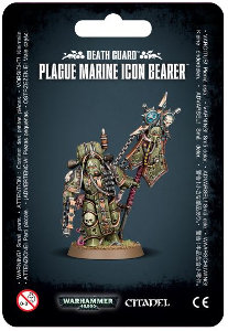 Plague Marine Icon Bearer set for Warhammer 40,000 Ed8 from Games Workshop, 2017 - Miniature figure set review