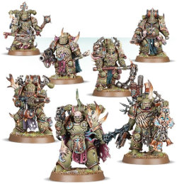 Plague Marines set for Warhammer 40,000 Ed8 from Games Workshop, 2017 - Miniature figure set review
