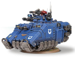 Hovering combat vehicle in 1/64 scale (Primaris Repulsor kit for Warhammer 40.000 Ed8) from Games Workshop, 2017 - Miniature vehicle kit review