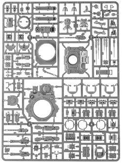 Primaris Repulsor sprue 3 for Warhammer 40,000 Ed8 from Games Workshop - Miniature sprue review