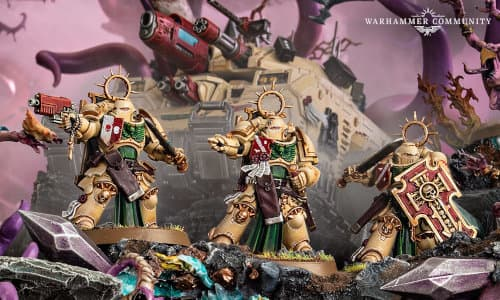 Bladeguard Veterans set for Warhammer 40,000 Ed9 from Games Workshop, 2021 - Miniature set review