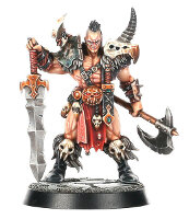 Warrior with broadsword and axe (Darkoath Chieftain #1 for Warhammer Quest) from Games Workshop - Miniature figure