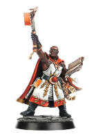 Warrior with war mallet and book (Excelsior Warpriest for Warhammer Quest) from Games Workshop - Miniature figure
