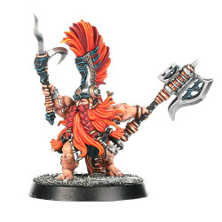 Dwarf warrior with gaff and axe (Fyreslayer Doomseeker for Warhammer Quest) from Games Workshop - Miniature figure