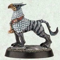 Avian hound (Gryph-hound of Excelsior Warpriest for Warhammer Quest: Silver Tower) from Games Workshop - Miniature creature
