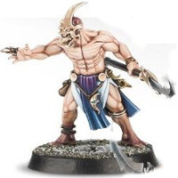 Barbarian warrior with axe (Kairic Acolyte #2 for Warhammer Quest: Silver Tower) from Games Workshop - Miniature figure