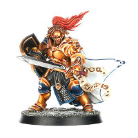 Warrior with shield and sword in heavy armour (Knight-Questor for Warhammer Quest) from Games Workshop - Miniature figure