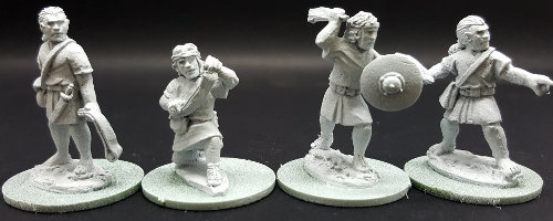 Warrior with sling in 1/56 scale - Balearic Slinger #1 for the Iberians of Saga: Punic Wars from Gripping Beast - Miniature figure review