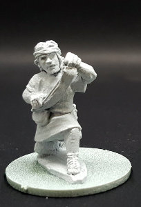 Warrior with sling in 1/56 scale - Balearic Slinger #2 for the Iberians of Saga: Punic Wars from Gripping Beast - Miniature figure review