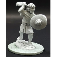 Warrior with sling in 1/56 scale - Balearic Slinger #3 for the Iberians of Saga: Punic Wars from Gripping Beast - Miniature figure review