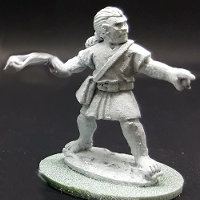 Warrior with sling in 1/56 scale - Balearic Slinger #4 for the Iberians of Saga: Punic Wars from Gripping Beast - Miniature figure review