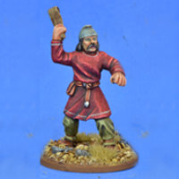 Warrior with sling in 1/56 scale - Saxon Ceorl with Sling #2 for the Saxons of Saga: Aetius & Arthur from Gripping Beast - Miniature figure review
