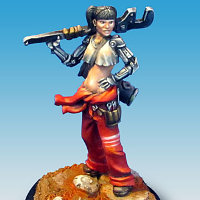 Human with pipe wrench (Abby) for Eden from Happy Games Factory - Miniature figure review