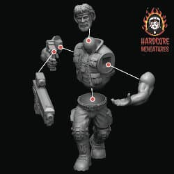 Jungle Fighters kit from Hardcore Miniatures, 2020 - Miniature kit review