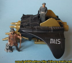 Combat flyer in 1/18 scale (Destro's Despoiler for GI Joe) from Hasbro, 1988 - Miniature vehicle review