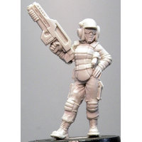 Futuristic soldier in modern armour with assault rifle (Ashlee (c)) from Hasslefree Miniatures