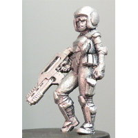 Futuristic soldier in modern armour with assault rifle (Debra (b)) from Hasslefree Miniatures
