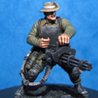 Modern soldier with rotary machine gun - HFA185 Ace from Hasslefree Miniatures
