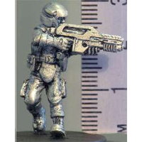Futuristic soldier in modern armour with assault rifle (KJ) from Hasslefree Miniatures - Miniature figure review