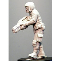 Futuristic soldier in modern armour with assault rifle (Ken (c)) from Hasslefree Miniatures - Miniature figure review