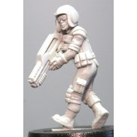 Futuristic soldier in modern armour with assault rifle (Kendra (c)) from Hasslefree Miniatures