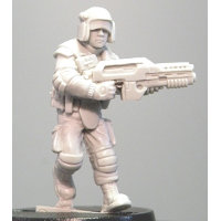 Futuristic soldier in modern armour with assault rifle (ZH Kev (c)) from Hasslefree Miniatures - Miniature figure review
