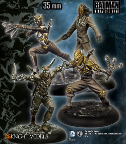 The Court of Owls set for Batman Miniatures Game from Knight Models, 2015 - Miniature figure set review