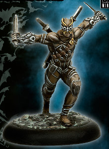 Running warrior with daggers (William Cobb) from Knight Models