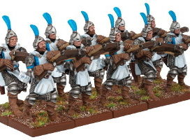 Basilean Crossbowmen Troop for Kings of War from Mantic Games - Miniature set