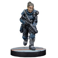 Futuristic female human warrior - Captain Erika Dulinsky for Star Saga from Mantic Games, 2017 - Miniature figure review