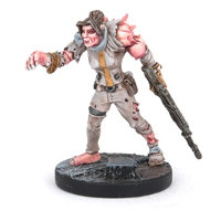 Humanoid with gun in 1/56 scale (Doctor Simmonds #1 for Warpath) from Mantic Games - Miniature figure review