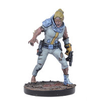Humanoid with gun in 1/56 scale (Doctor Simmonds #2 for Warpath) from Mantic Games - Miniature figure review