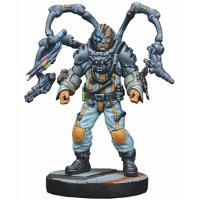 Futuristic human with bionic tentacles - Dr. Lucas Koyner for Star Saga from Mantic Games, 2017 - Miniature figure review