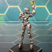 Futuristic humanoid referre in 1/56 scale - Bad Call for DreadBall from Mantic Games, 2014