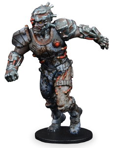 Futuristic humanoid warrior in 1/56 scale - New Eden Revenants Human Male Jack for DreadBall from Mantic Games, 2018