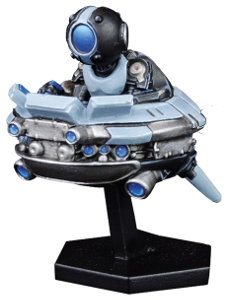 Futuristic hoverer in 1/56 scale - Eye in the Sky for DreadBall from Mantic Games, 2018
