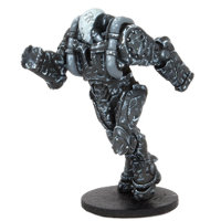 Futuristic humanoid warrior in 1/56 scale - Jetari Training Drone SL22 for DreadBall from Mantic Games, 2014