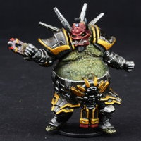 Futuristic humanoid warrior in 1/56 scale - Matsudo Tectonics Captain: Raiden #2 for DreadBall from Mantic Games, 2018