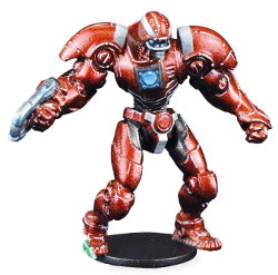 Futuristic humanoid warrior in 1/56 scale - Draconis All-Stars Captain (Jack): Romeo Blue #1 for DreadBall from Mantic Games, 2018