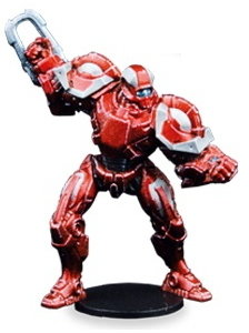 Futuristic humanoid warrior in 1/56 scale - Draconis All-Stars Jack #1 for DreadBall from Mantic Games, 2018