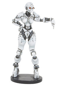 Futuristic humanoid referre in 1/56 scale - RefBot Mk1 for DreadBall from Mantic Games, 201x