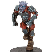 Small futuristic humanoid warrior in 1/56 scale - Zee Buccaneer #1 for DreadBall from Mantic Games, 2014