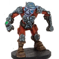 Small futuristic humanoid warrior in 1/56 scale - Zee Buccaneer #2 for DreadBall from Mantic Games, 2014