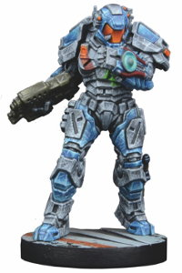 Futuristic human warrior - Enforcer ES435 'Monarch' for Star Saga from Mantic Games, 2017 - Miniature figure review