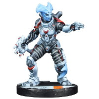 Futuristic humanoid warrior in 1/56 scale - Kira Nikolovski for Star Saga from Mantic Games, 2017 - Miniature figure review