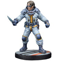 Futuristic human technician - Lab Technician #1 for Star Saga from Mantic Games, 2017 - Miniature figure review