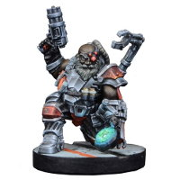 Futuristic human warrior - Ogan Helkkare for Star Saga from Mantic Games, 2017 - Miniature figure review